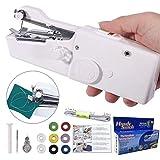 DUTISON Nähmaschine Tragbar Handnähmaschine Geeignet für Kleidung Stoff Vorhang DIY Haushalt und Reisenutzung (AA Batteriebetrieben)