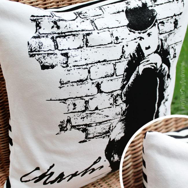 geschenke n hen ein t shirt wird zur kissenh lle verflixt und aufgetrennt. Black Bedroom Furniture Sets. Home Design Ideas