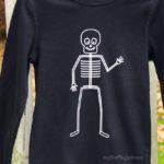 Skelett-Shirt mit Silhouette-Freebie Vorschau