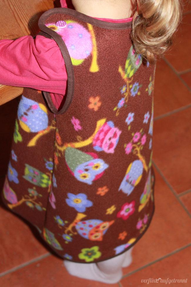 Trägerkleid Eulen Fleece